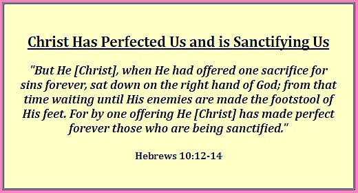 Christ has perfected us