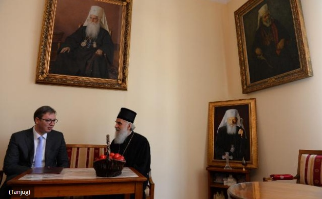 Serbian president and patriarch