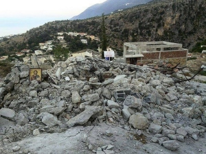 church in Albania destroyed