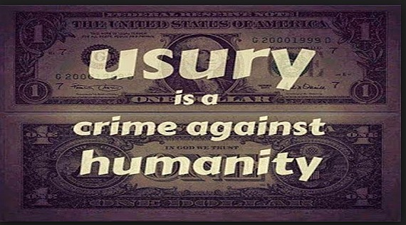 usury is a crime against humanity